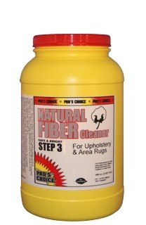 Choice Natural Cotton - CTI - Pro's Choice - Natural Fiber Cleaner - Step 3 for Upholstery and Area Rugs - 1 Tub - 3140