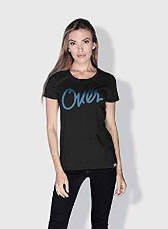 Creo Over Type Trendy T-Shirts For Women - S, Black