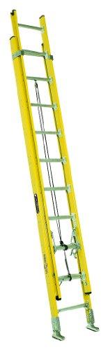 Louisville Ladder FE4228HD Fiberglass Extension Ladder, 28 Feet, 375 Pound Duty - 28 Fiberglass Ladders Feet