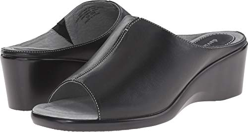 (David Tate Women's Gloria Slide Sandal,Black Lamb,9 M)