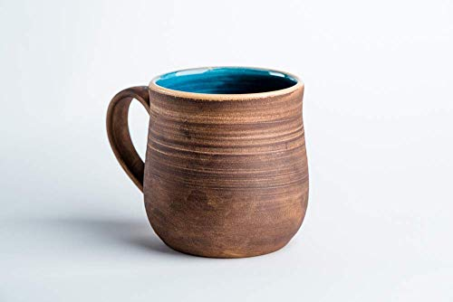 (Pottery coffee mug Blue ceramic mug Tea cup Rustic mug Handmade coffee mug Stoneware mug)