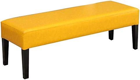 Jianfei pouf poggiapiedi sgabello letto cuscino in pu camera da