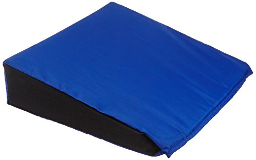 Sammons Preston Economy Wedge Cushion, Angled Seat Cushion for Wheelchair Users, Sloped Vinyl Covered Cushion to Prevent Sliding or Increase Mobility for Elderly & (Wheelchair Wedge Cushion)