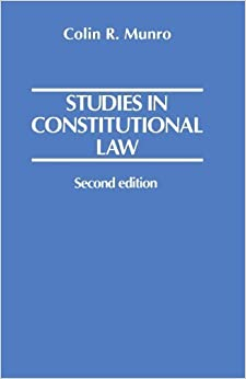 Book Studies in Constitutional Law by Colin R. Munro (2005-02-24)