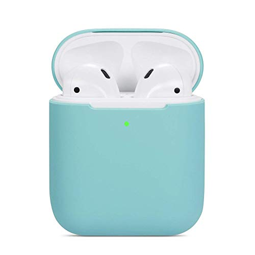 ZALU Compatible for AirPods Case, 0.8mm Ultra-Thin Version, Premium Protective Silicone Cover Skin for AirPods Charging Case (Mint Green)