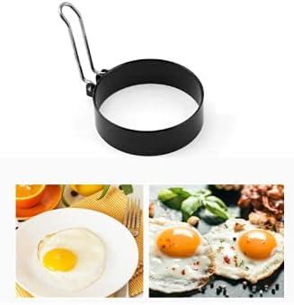 Roestvrij staal Omelet Machine Dikke Omelet Ring NonStick Coating Quick Omelet Mold 1 Set 1 Stuk