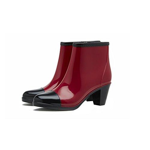 Skidproof HOTER Rain Heel Fashionable Medium Waterproof Day Winered Activities Latest Rainy Outdoor Stylish Lady Boots Glitter wRCazwq