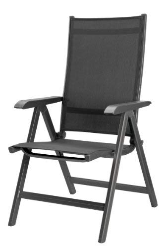 Kettler Basic Plus Folding Multiposition Chair - Gray/Gray