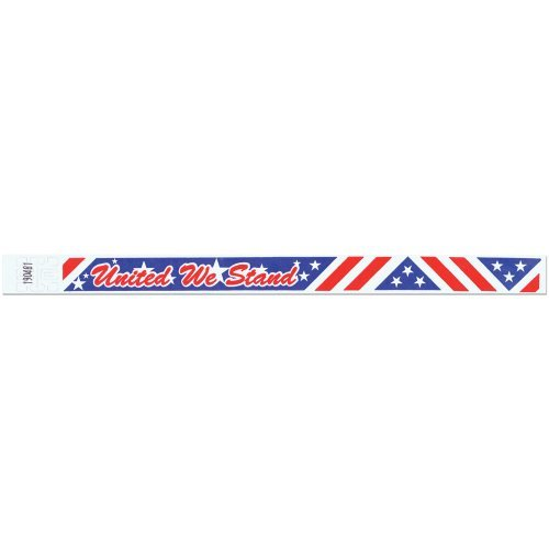 Tyvek Wristbands - 3/4 Inch - United We Stand Slogan - Patriotic Event Wristband - 500 Pieces of Wristbands per Box by Precision Dynamics (Image #2)