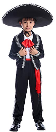 Ugoccam Kids Performance Dancing Uniform Halloween Cosplay Theme Party Costume Black -