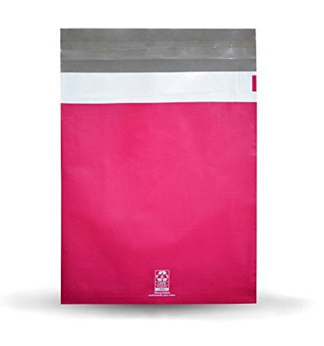 300 pcs Variety Combo Pack (6x9, 7.5x10.5, 9x12) Self Adhesive Colored Flat Poly Mailers Shipping Mailing Plastic Envelopes Bags in Hot Pink, 2 Mil