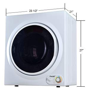 Panda PAN760SF-01 3.75 cu. ft. Compact Electric Dryer in White and Black, Bottom Control, 7 Serial Cu.ft