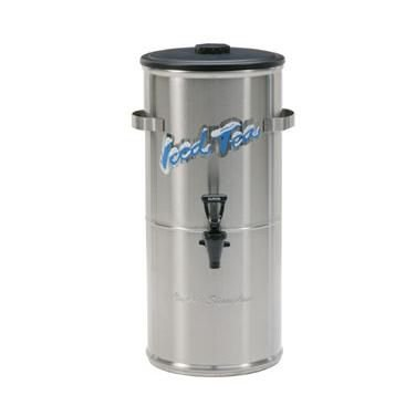 Curtis TC-3HS Round Low Profile Stainless Steel 3.5 Gal. Iced Tea Dispenser W/ Plastic Lid-TC-3HS