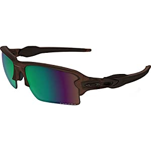 Oakley Men's Flak 2.0 Xl Polarized Iridium Rectangular Sunglasses, Matte Rootbeer w/Prizm Shallow Water Polarized, 59 mm