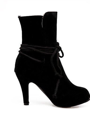 Uk7 Vestido Zapatos A Moda Stiletto Botas Casual La Xzz Black Mujer Tacón Redonda Marrón Negro Punta Cn36 Gris Beige Eu40 us6 Vellón De Uk4 us9 Brown Cn41 Eu36 Pdvdwxqf1