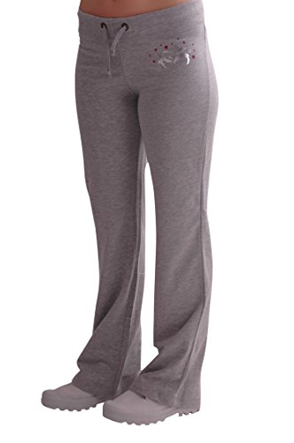 f7ccd92a709b Eyecatch - Casual Graphic Ladies Joggers Jogging Tracksuit Bottoms Grey  with Fushia X-Large - UKsportsOutdoors
