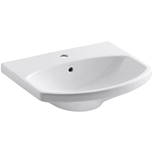 - Kohler 2363-1-0 Vitreous china Pedestal Arch Bathroom Sink, 25.63 x 10 x 21.25 inches, White