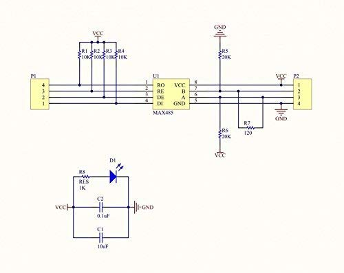 RS485 Module TTL to RS-485 MCU Development Board ARCELI 5PCS 5V MAX485