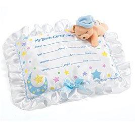 Amazon.com: Baby Boy Certificado de Nacimiento Almohada ...