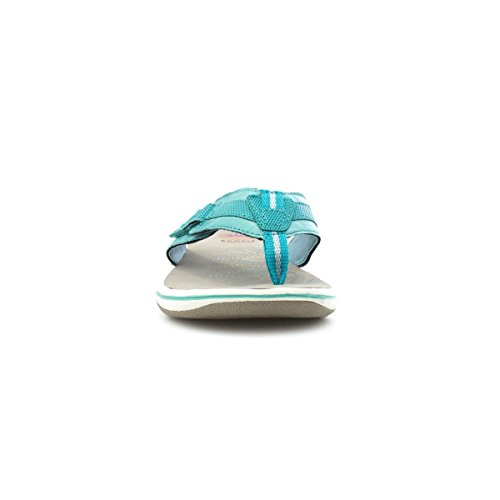 Aardeweer Dames Groenblauw Leer Comfort Sandalen Groen