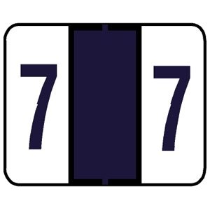 Numeric Label, Laminated, Tab Compatible, 1-1/4