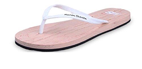 Belloo Damen Strand Beach Pantoletten Sandalen Zehentrenner Flip Flops, 3 Farbe Weiß