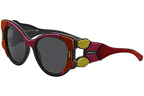 (Prada Women's Velvet Sunglasses, Fuchsia Multi/Grey, One Size)