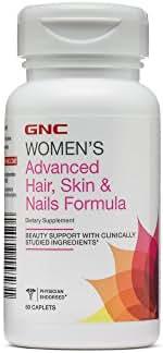 GNC Womens Advanced Hair, Skin Nails Formula, 60 Caplets, Beauty Suppor