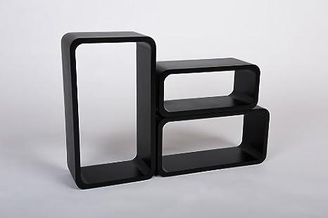White//Black Retro Floating Shelves Bookcase Cube Shelving LO88