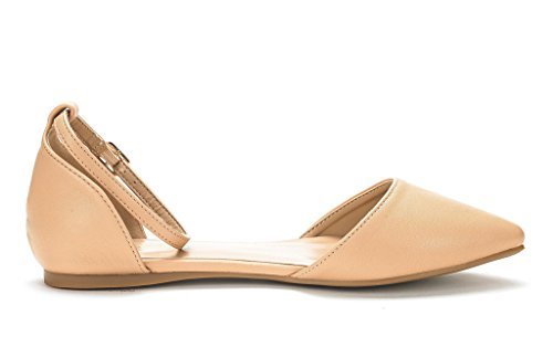 Pointed On Flats Plain Flapointed PAIRS Slip D'Orsay DREAM Casual Shoes NUDE PU Comfort New Ballet Women's Soft On4YBnwq7