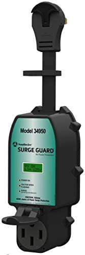 Southwire 34950 Surge Guard – Full Protection Portable with LCD Display, 50A, Black