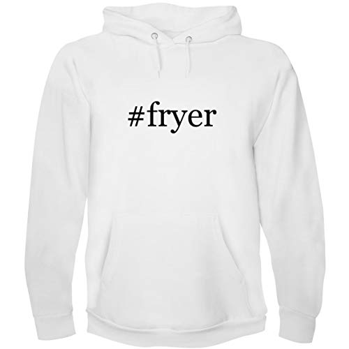 The Town Butler #Fryer - Men's Hoodie Sweatshirt, White, Large