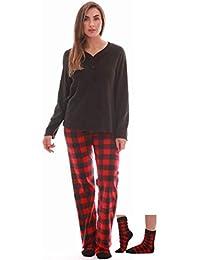 Women's Ultra-Soft Pajama Pant Set with Matching Fuzzy Socks