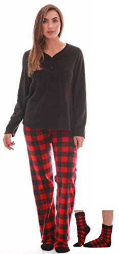 Just Love Henley Pants Set with Socks for Women 6732-10195-S (Flannel Pj Pants For Juniors)