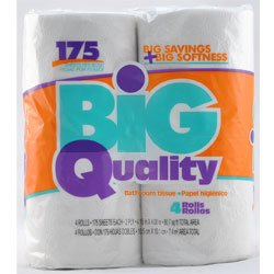 Charlee D's 4 Pack Big quality bath tissue, toilet paper 160 Sheets per roll