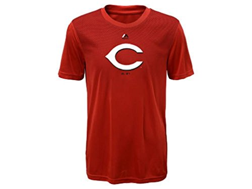 Sports Cincinnati Reds Baseball (Youth MLB Geo Strike Cool Base Tee (Youth Xlarge 18/20, Cincinnati Reds))