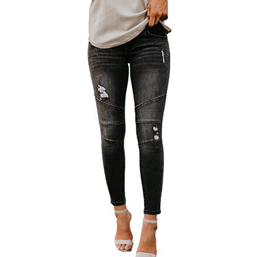 Jeans Cheville Pantalons Noir Taille Femme Extensibles Jeans Haute La pour juqilu Bp0qw4