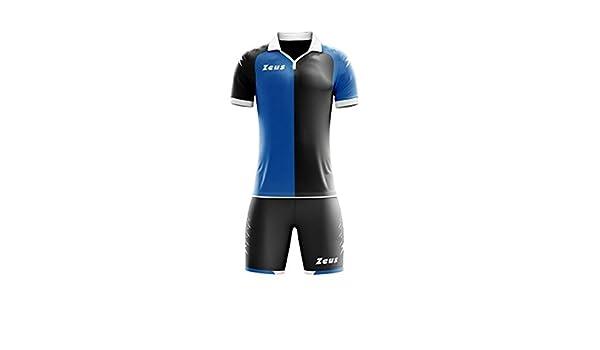 Zeus Kit Gryfon Futbolín Completo Camiseta y pantalón Deportivo Torneo - Home Shop Italia (L, Negro-Royal): Amazon.es: Deportes y aire libre