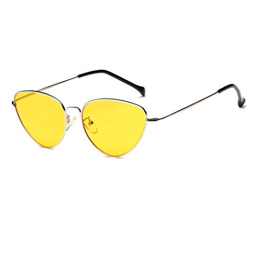 Ecurson Women Men Summer Vintage Retro Cat Eye Glasses Unisex Sunglasses - Sunglass Cavalli