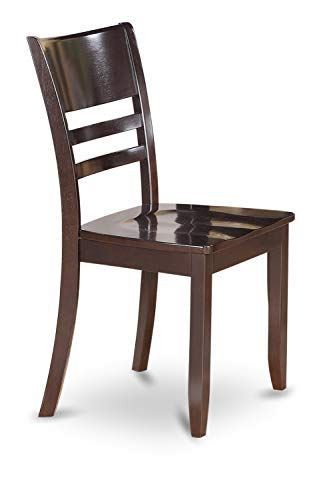 East West Furniture Rectangular Dinette Set 7 Piece - Wooden Wood Dining Chairs Seat - Cappuccino Finish Modern Dining…