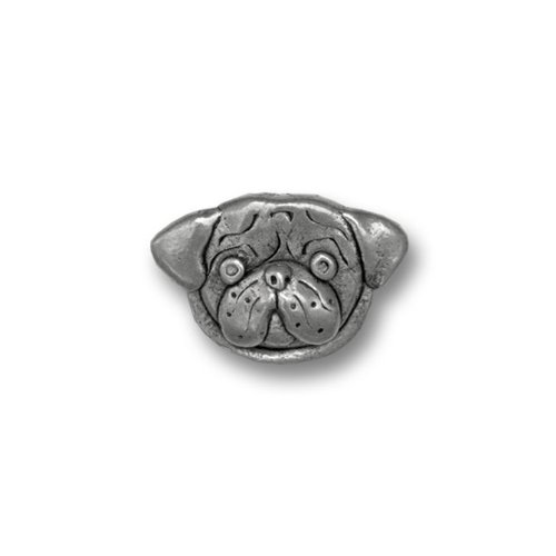 top Pewter Pug Lapel Pin by The Magic Zoo