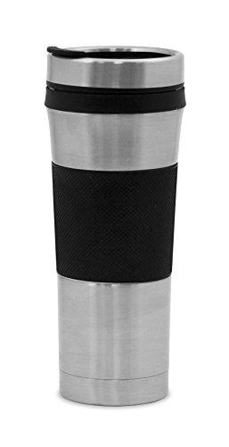 Farberware Victory Travel Mug, 16 oz, Black Farberware Stainless Steel Vacuum