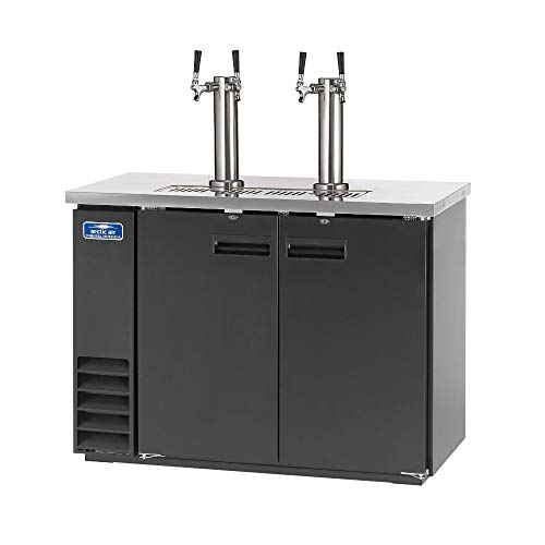 Arctic Air ADD48R-2 49-Inch Double-Tap Direct Draw Draft Beer Cooler/Dispenser/Kegerator, Black, ()