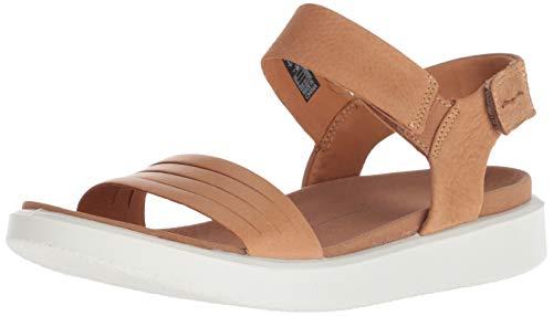 Leather Cashmere Heels - ECCO Women's Women's Flowt Strap Sandal, Lion/Cashmere 36 M EU (5-5.5 US)
