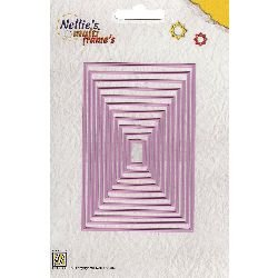 (Ecstasy Crafts Nellie's Choice Multi Frame Dies, Straight Rectangle, 11-Pack)