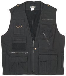 7575 Black Deluxe Safari Outback Vest (X-large), Outdoor Stuffs