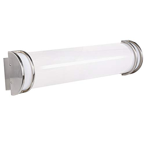 Hykolity 24 Inch 25W Integrated LED Linear Vanity Light bar, Bathroom Wall Sconce Lighting Fixture Brush Nickel Dimmable (Equal to Three 40-watt Incandescent Bulbs) ETL Listed ()