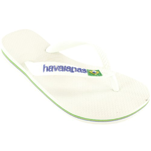 Donna Havaianas Logo Scivolare Su Flip Flops Estate Spiaggia Sandalo Nuovo