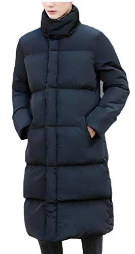 Loose Down Black Thicken Mid Fit Winter Long TTYLLMAO Jackets Coats Men's Quilted 8tZxq8Uw