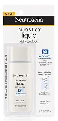 Neutrogena Pure & FreeLiquid Daily Sunblock SPF 50